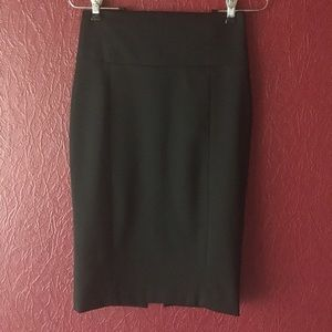 EXPRESS High Waisted Black Pencil Skirt Sz 0 NWOT!